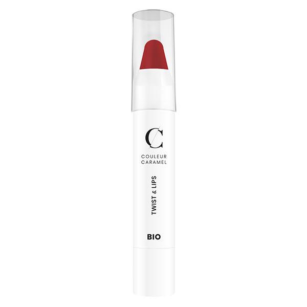 Couleur Caramel Twist & Lips Crayon à Lèvres Bio N°405 Rouge Mat 3g