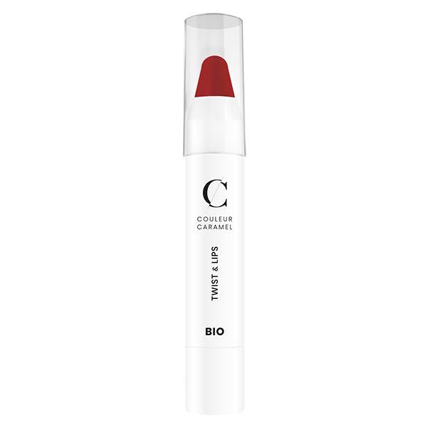 Couleur Caramel Twist & Lips Crayon à Lèvres Bio N°407 Rouge Glossy 3g