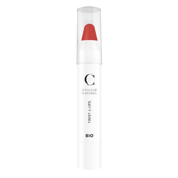 Couleur Caramel Twist & Lips Crayon à Lèvres Bio N°410 Corail 3g