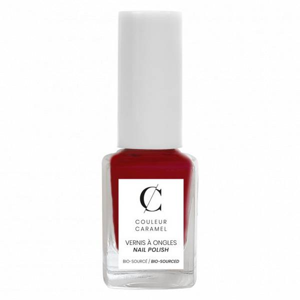 Couleur Caramel Vernis à Ongles Bio N°42 Rouge Poinsettia 11ml