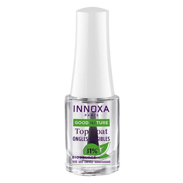 Innoxa Good Nature Biosourcé Vernis à Ongles Base Top Coat 2 en 1 4,8ml
