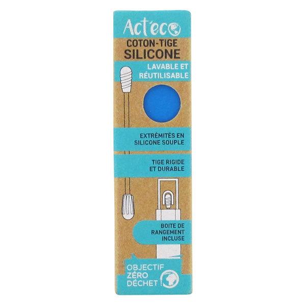 Act'Eco Act'Éco Coton Tige Silicone Bleu