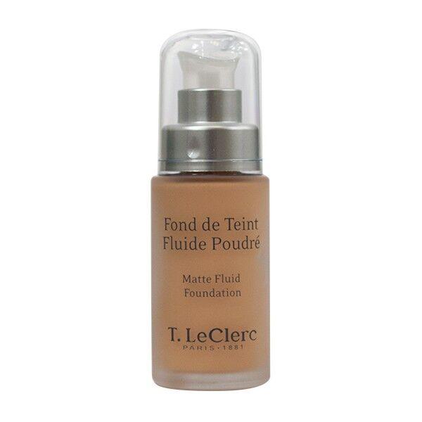 T-LeClerc Fond de Teint Fluide Poudré 04 Beige Abricoté Mat