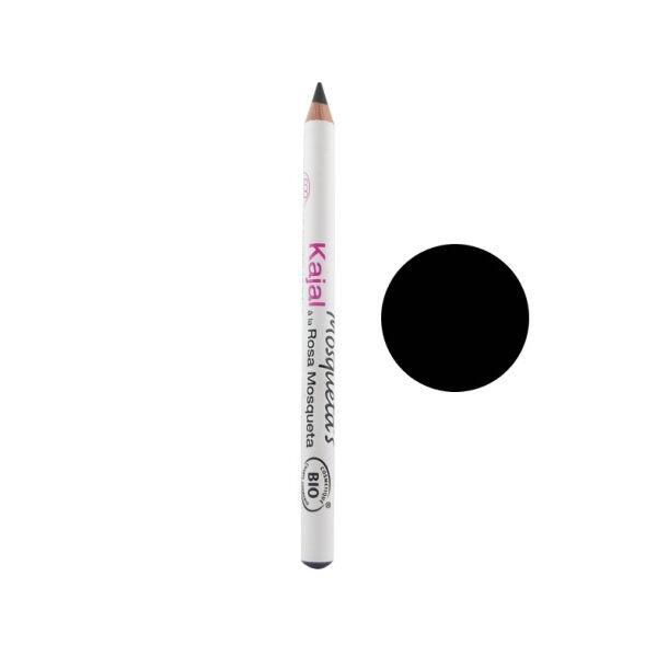 Mosqueta s Mosqueta's Crayon Yeux Khajal Noir à la Rose Musquée Bio 1,14g