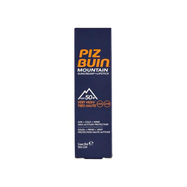 Piz Buin Montagne Crème Solaire 20ml et Baume Lèvres 2,3ml SPF50+