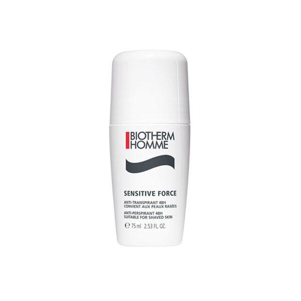 Biotherm Homme Sensitive Force Déodorant Anti-Transpirant À L'Aloe Vera Roll On 75ml