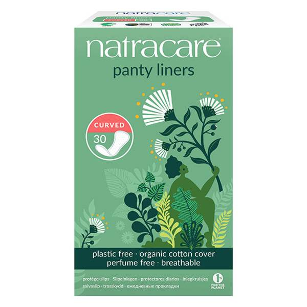Natracare Protège-Slip Panty Liners Curved 30 unités