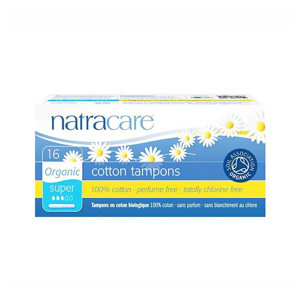 Natracare Tampons Super avec Applicateur 16 unités