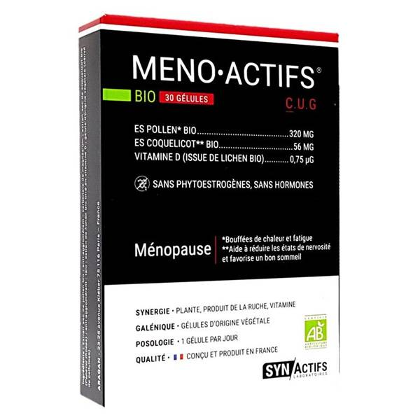 Synactifs Ménoactifs Bio 30 gélules