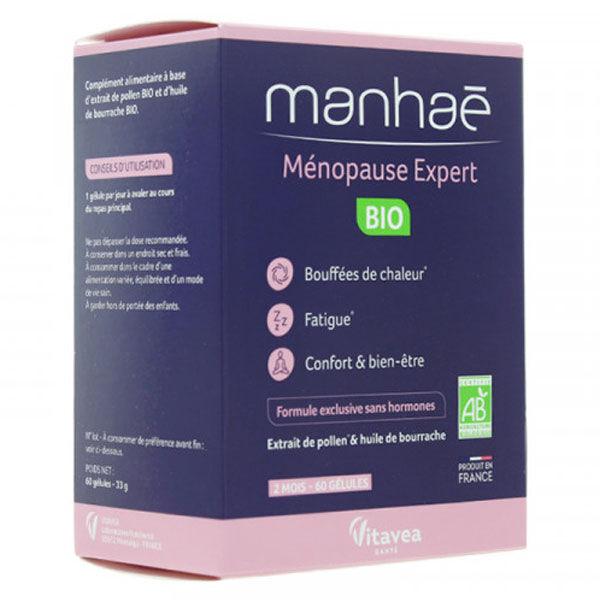 Nutrisanté Manhaé Ménopause Expert Bio 60 gélules
