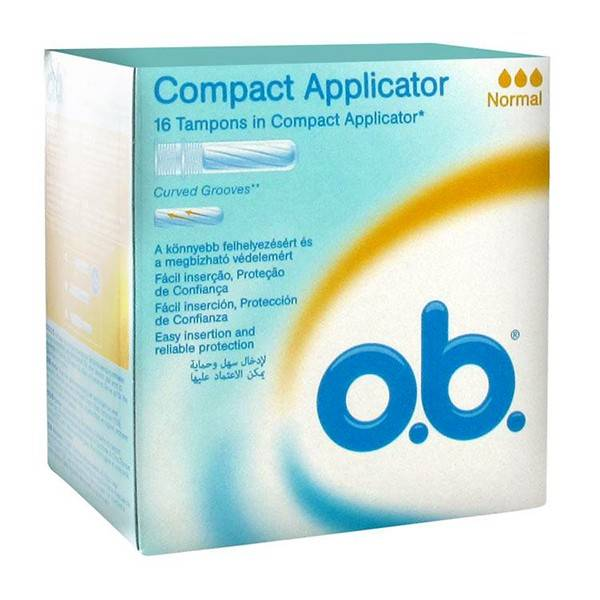 OB Applicateur ProComfort Normal boite de 16 tampons avec applicateur