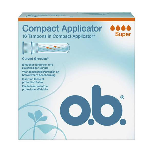 OB Applicateur Compact Super 16 tampons avec applicateur