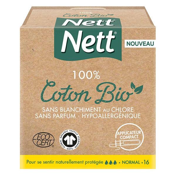 Nett Bio Tampons Avec Applicateur 16 unités