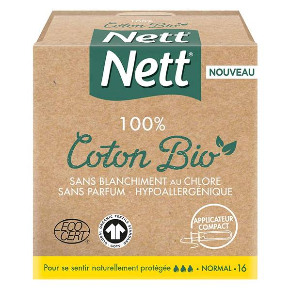 Nett Bio Tampons Normal avec Applicateur 16 unités