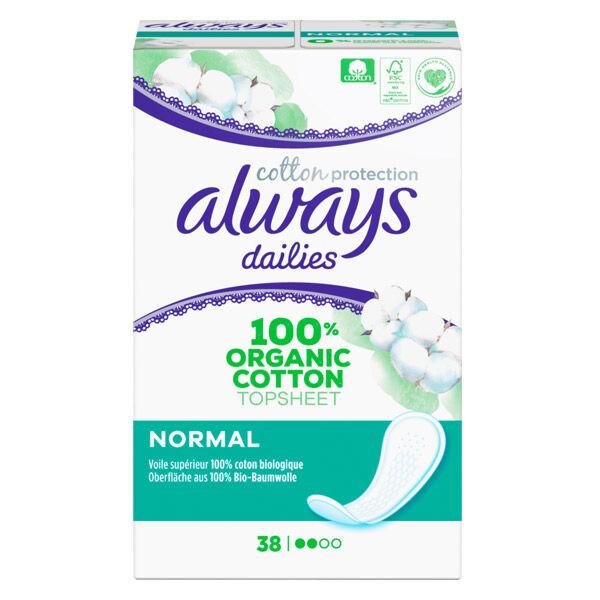 Always Dailies Protège-Slip Cotton Protection Normal 38 unités