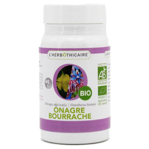 L' Herbothicaire L'Herbôthicaire Onagre Bourrache Bio 60 capsules