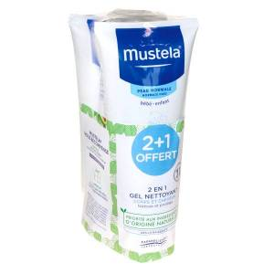 Mustela Gel Nettoyant 2 en 1 Peau Normale Lot de 3 x 200ml