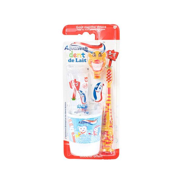 Aquafresh Kit de Brossage Dent de Lait 3-5 Ans Tigre 50ml