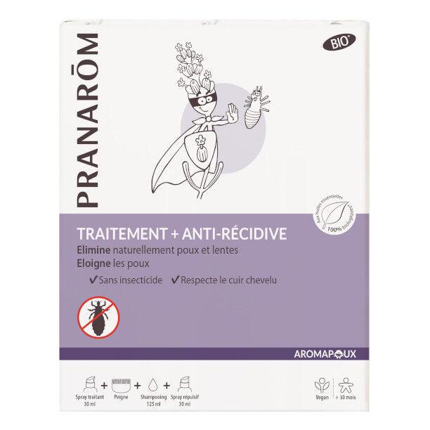 Pranarom Aromapoux Traitement Anti-Poux Bio 3 en 1 + Peigne