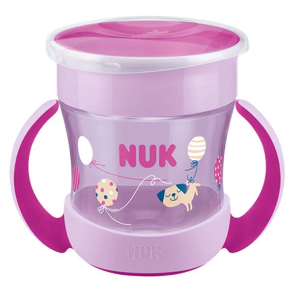 Nuk Magic Cup Mini Tasse 360 Rose Poignée +6m 160ml