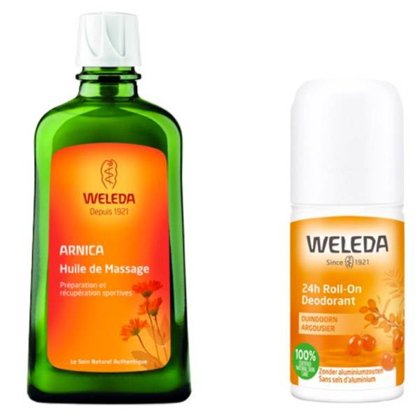 Weleda Arnica Huile de Massage 200ml + Argousier Déodorant Roll-On 50ml Offert
