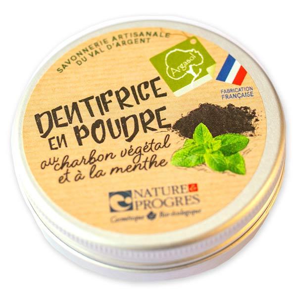 Argasol Dentifrice en Poudre Charbon Végétal et Menthe 30g