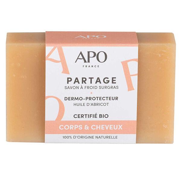 APO Savon Surgras Partage Corps et Cheveux Bague Bio 100g