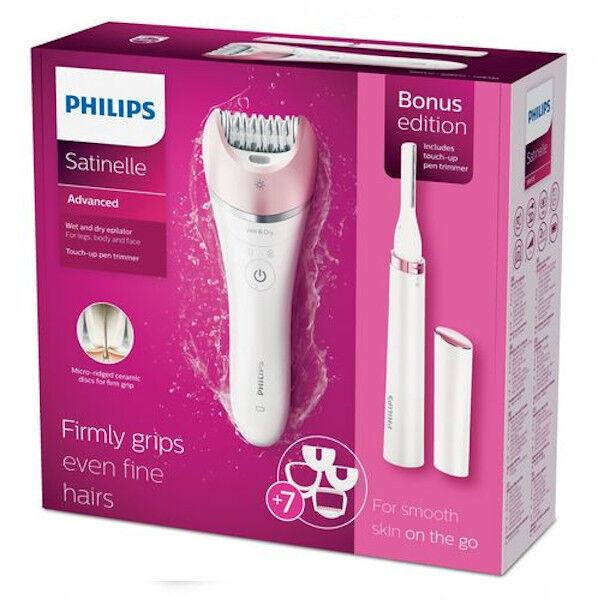 philips satinelle advanced epilateur wet & dry edition bonus