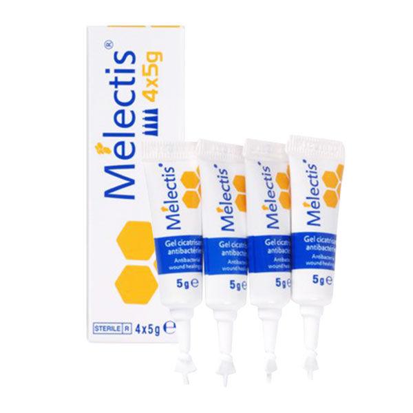 Melectis Gel Cicatrisant Antibactérien au Miel 4 x 5g