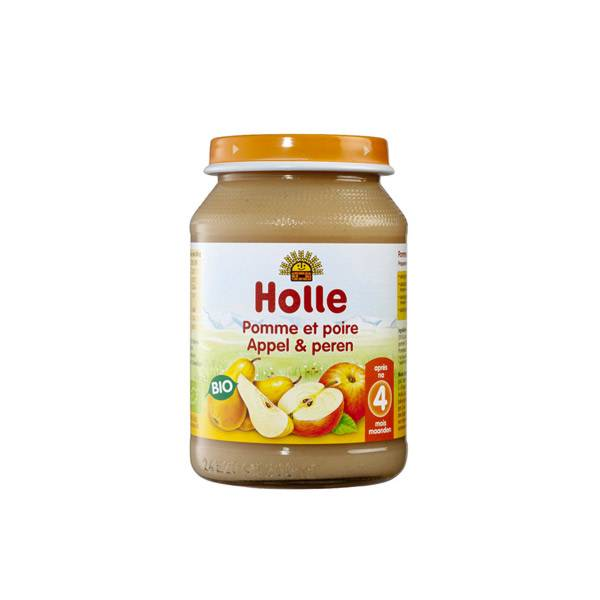 Holle Petit Pot Pomme et Poire +4m 190g