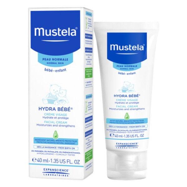 Mustela Hydra Bébé Crème Visage Peau Normale 40ml