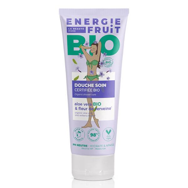 Energie Fruit Gel Douche Fleur de Verveine & Aloe Vera Bio 200ml
