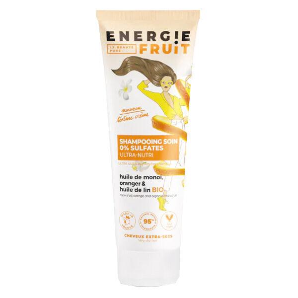 Energie Fruit Shampooing Soin Monoï Oranger et Huile de Lin Bio 250ml