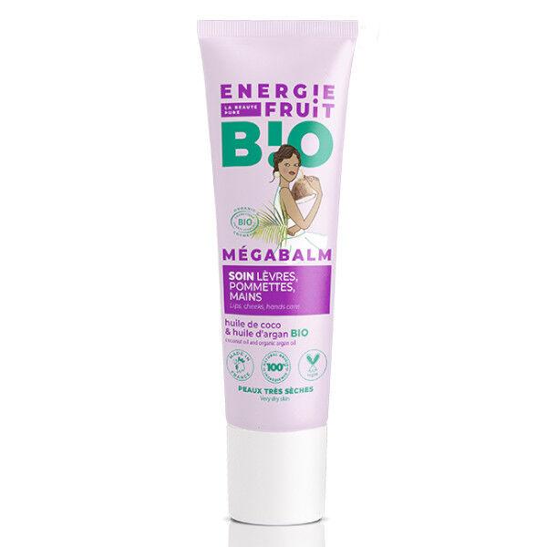 Energie Fruit Mégabalm Soin des Lèvres Pommettes et Mains Coco Bio 30ml