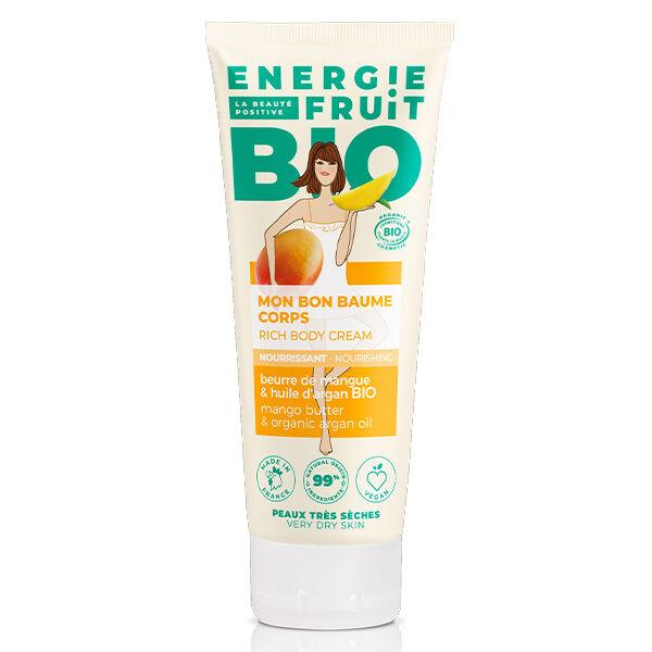 Energie Fruit Baume Corps Beurre de Mangue & Huile d'Argan Bio 200ml