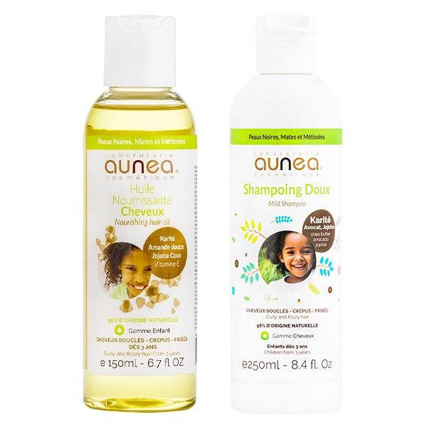 Aunea Bébé & Enfant Shampooing Doux 250ml + Huile Nourrissante Cheveux 150ml