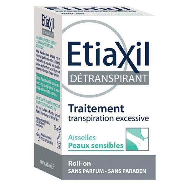 Etiaxil Déodorant Détranspirant Aisselles Peaux Sensibles Roll-on 2 x 15ml