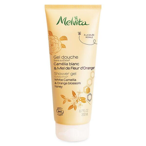 Melvita Les Essentiels Crème de Douche Camélia & Miel de Fleur d'Oranger Bio 200ml