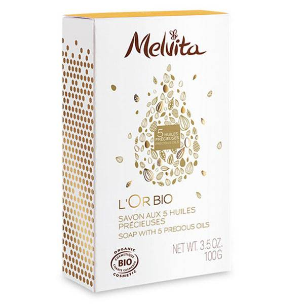 Melvita L'Or Bio Savon aux 5 Huiles Précieuses Bio 100g