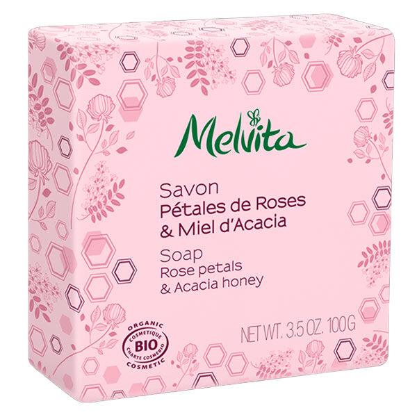 Melvita Les Essentiels Savon Pétales de Rose & Miel Acacia Bio 100g