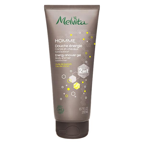 Melvita Homme Shampooing Douche Energie Bio 200ml