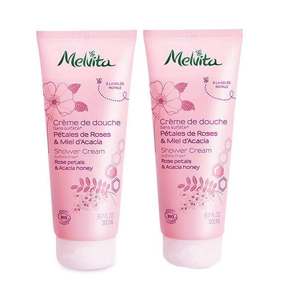 Melvita Duo Gel Douche Pétales de Roses & Miel d'Acacia 2 x 200ml