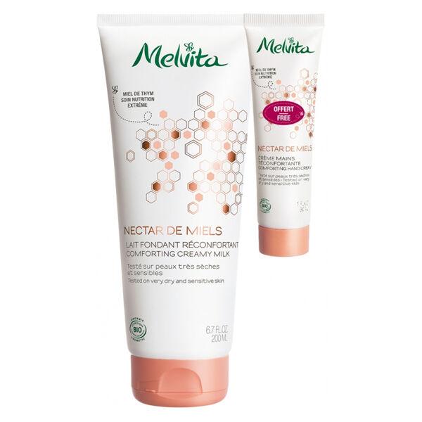 Melvita Nectar de Miels Lait Fondant Bio 200ml + Crème Mains 30ml Offert
