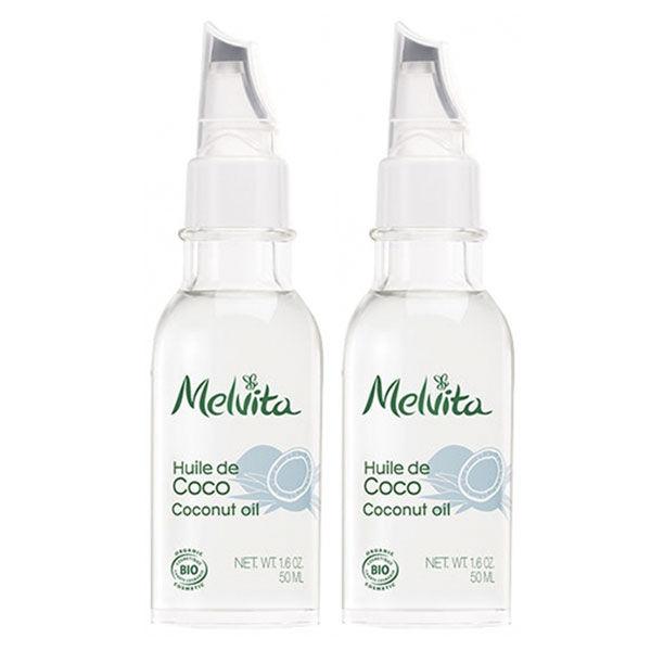 Melvita Huile de Beauté de Coco Bio Lot de 2 x 50ml