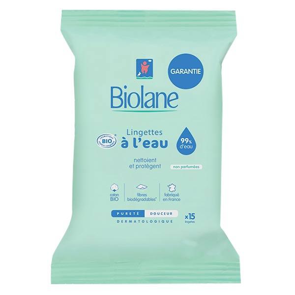 Biolane Lingettes Douceur Pocket Bio 15 unités