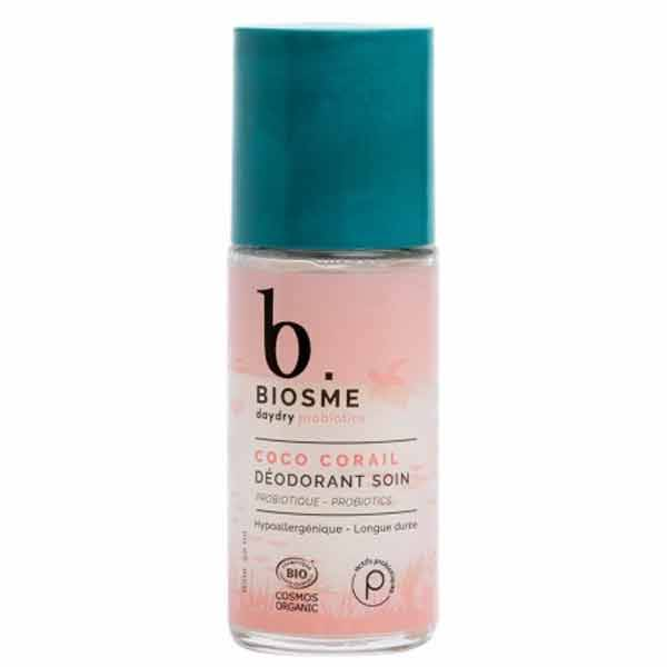 DayDry Biosme Daydry Probiotic Déodorant Coco Corail Rechargeable Roll-On Edition Limitée 50ml