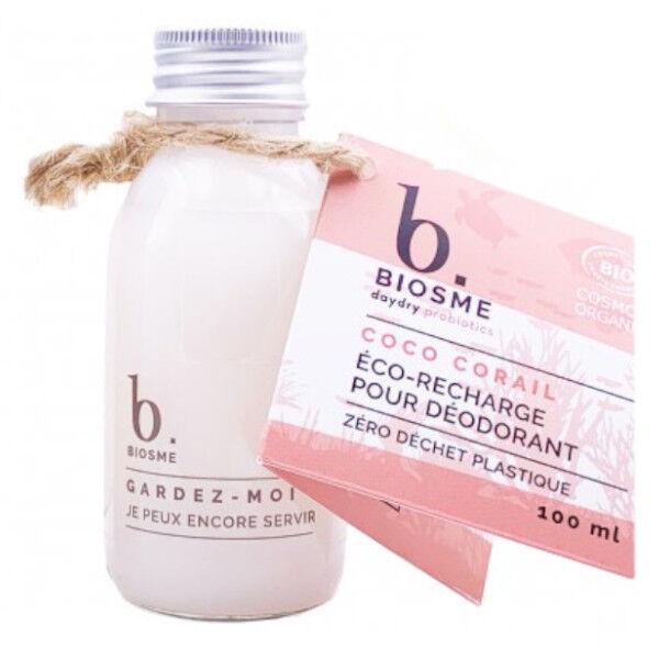 DayDry Biosme Daydry Probiotic Déodorant Coco Corail Recharge pour Roll-On Bio 100ml