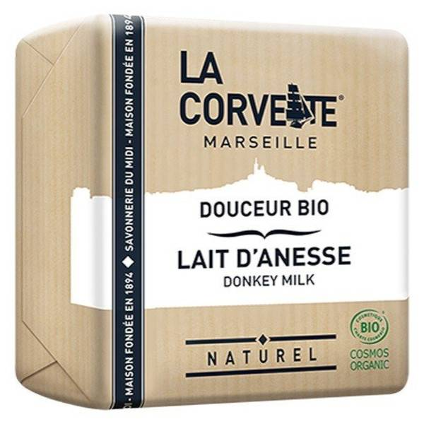 La Corvette Marseille Savon Douceur Bio Lait d'Ânesse 100g