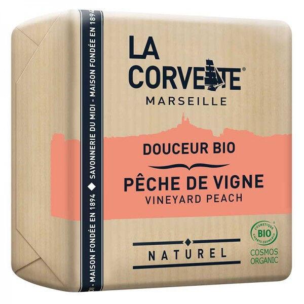 La Corvette Marseille Savon Douceur Bio Pêche de Vigne 100g