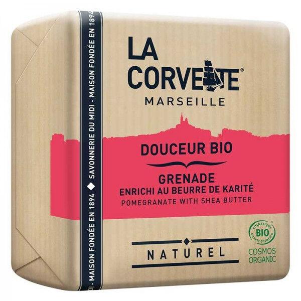 La Corvette Marseille Savon Douceur Bio Karité et Grenade 100g